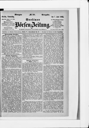 Berliner Börsen-Zeitung vom 07.06.1883