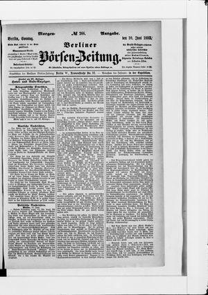 Berliner Börsen-Zeitung vom 10.06.1883