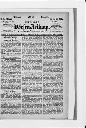 Berliner Börsen-Zeitung vom 13.06.1883