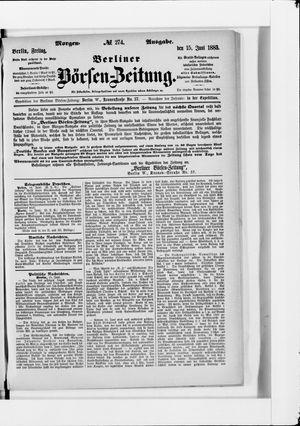 Berliner Börsen-Zeitung vom 15.06.1883