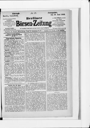 Berliner Börsen-Zeitung vom 16.06.1883