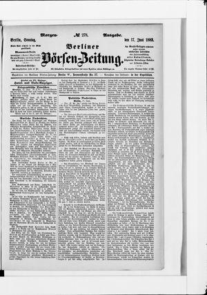 Berliner Börsen-Zeitung vom 17.06.1883