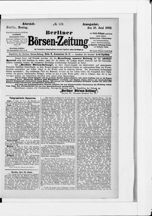 Berliner Börsen-Zeitung vom 18.06.1883