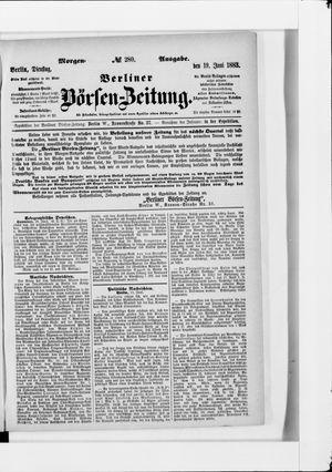 Berliner Börsen-Zeitung vom 19.06.1883