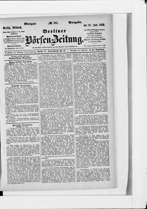 Berliner Börsen-Zeitung vom 20.06.1883