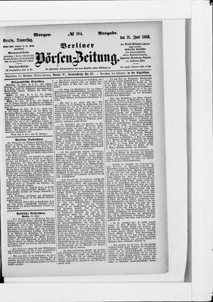 Berliner Börsen-Zeitung vom 21.06.1883