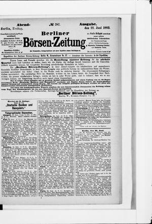 Berliner Börsen-Zeitung vom 22.06.1883