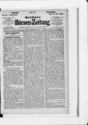 Berliner Börsen-Zeitung vom 23.06.1883