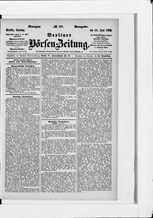 Berliner Börsen-Zeitung vom 24.06.1883