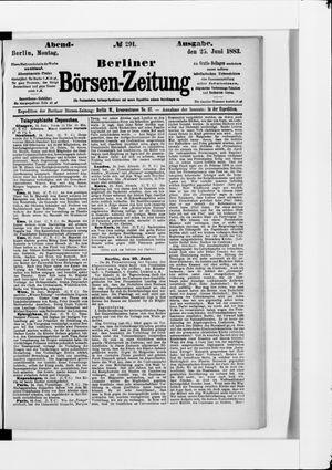 Berliner Börsen-Zeitung vom 25.06.1883