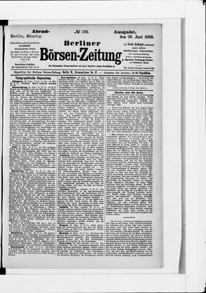 Berliner Börsen-Zeitung vom 26.06.1883