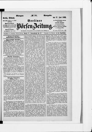Berliner Börsen-Zeitung vom 27.06.1883