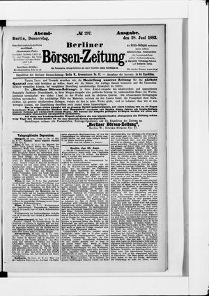 Berliner Börsen-Zeitung vom 28.06.1883