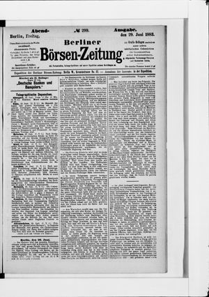 Berliner Börsen-Zeitung vom 29.06.1883