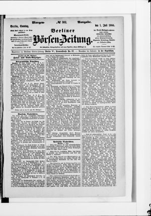 Berliner Börsen-Zeitung vom 01.07.1883