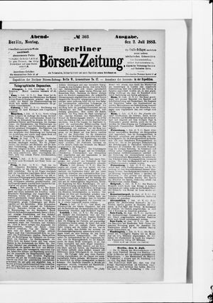 Berliner Börsen-Zeitung vom 02.07.1883