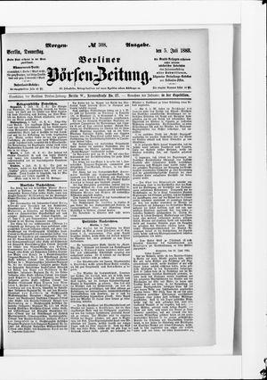 Berliner Börsen-Zeitung vom 05.07.1883