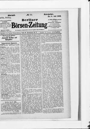 Berliner Börsen-Zeitung vom 06.07.1883