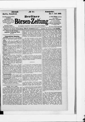 Berliner Börsen-Zeitung vom 07.07.1883
