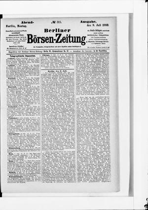 Berliner Börsen-Zeitung vom 09.07.1883