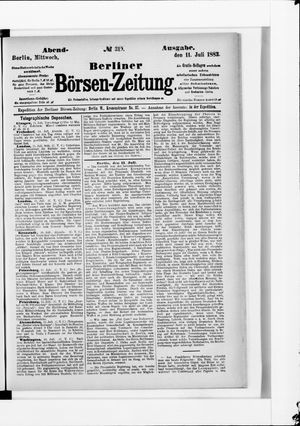 Berliner Börsen-Zeitung vom 11.07.1883