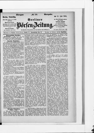 Berliner Börsen-Zeitung vom 12.07.1883