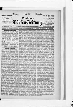Berliner Börsen-Zeitung vom 14.07.1883