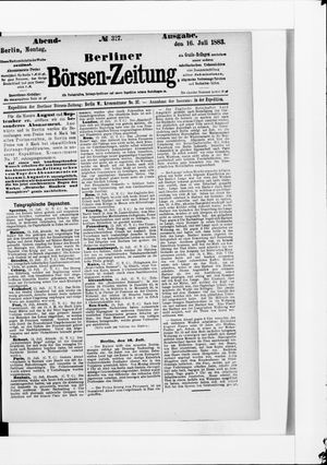 Berliner Börsen-Zeitung vom 16.07.1883