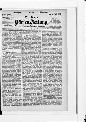 Berliner Börsen-Zeitung vom 20.07.1883