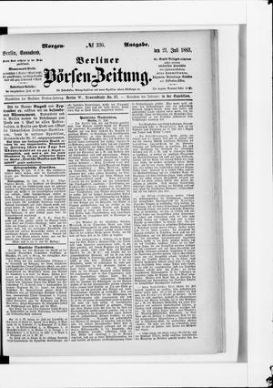 Berliner Börsen-Zeitung vom 21.07.1883