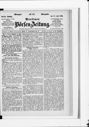 Berliner Börsen-Zeitung vom 22.07.1883