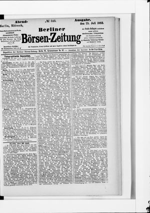 Berliner Börsen-Zeitung vom 25.07.1883