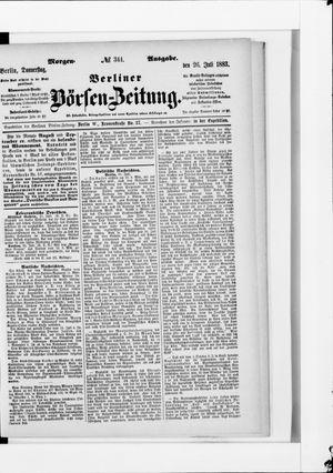 Berliner Börsen-Zeitung vom 26.07.1883