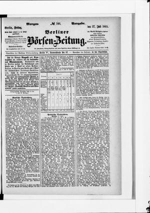 Berliner Börsen-Zeitung vom 27.07.1883