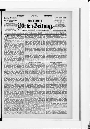 Berliner Börsen-Zeitung vom 28.07.1883