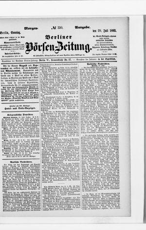 Berliner Börsen-Zeitung vom 29.07.1883