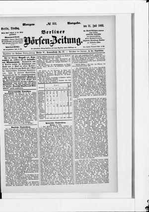 Berliner Börsen-Zeitung vom 31.07.1883