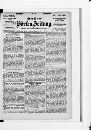 Berliner Börsen-Zeitung vom 01.08.1883