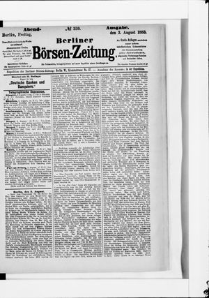 Berliner Börsen-Zeitung vom 03.08.1883