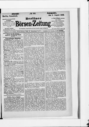 Berliner Börsen-Zeitung vom 04.08.1883
