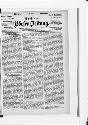 Berliner Börsen-Zeitung vom 05.08.1883