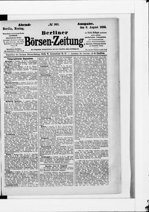 Berliner Börsen-Zeitung vom 06.08.1883