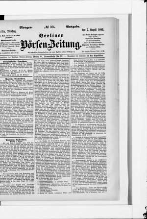 Berliner Börsen-Zeitung vom 07.08.1883