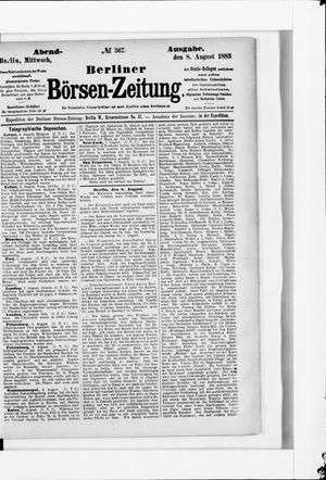 Berliner Börsen-Zeitung vom 08.08.1883