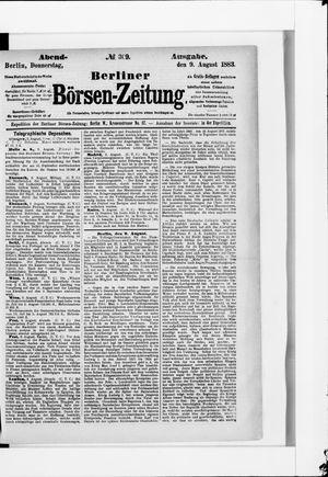 Berliner Börsen-Zeitung vom 09.08.1883