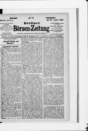 Berliner Börsen-Zeitung vom 10.08.1883