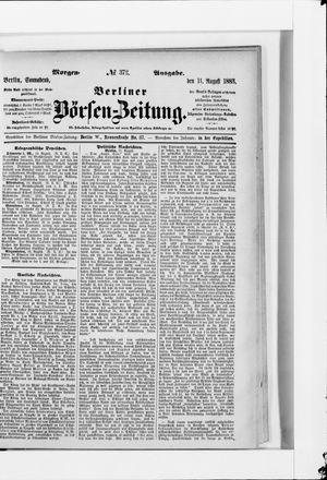 Berliner Börsen-Zeitung vom 11.08.1883