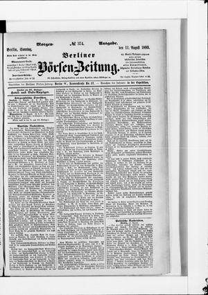Berliner Börsen-Zeitung vom 12.08.1883