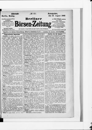 Berliner Börsen-Zeitung vom 13.08.1883