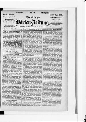 Berliner Börsen-Zeitung vom 15.08.1883